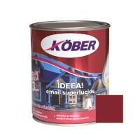 Vopsea alchidica pentru lemn / metal, Kober Ideea, interior / exterior, grena, 0.75 L