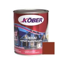 Vopsea alchidica pentru lemn / metal, Kober Ideea, interior / exterior, maro, 0.75 L