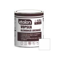 Vopsea alchidica pentru lemn / metal, Etalon, interior / exterior, alba, 0.75 L