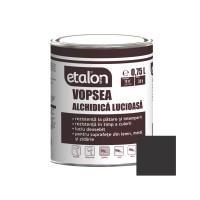 Vopsea alchidica pentru lemn / metal, Etalon, interior / exterior, negru, 0.75 L