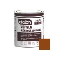 Vopsea alchidica pentru lemn / metal, Etalon, interior / exterior, maro, 0.75 L