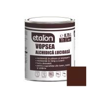 Vopsea alchidica pentru lemn / metal, Etalon, interior / exterior, maro inchis / maro terra, 0.75 L