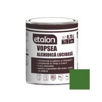 Vopsea alchidica pentru lemn / metal, Etalon, interior / exterior, verde mugur de brad, 0.75 L