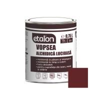 Vopsea alchidica pentru lemn / metal, Etalon, interior / exterior, visiniu, 0.75 L