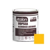 Vopsea alchidica pentru lemn / metal, Etalon, interior / exterior, galben clasic, 0.75 L