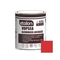 Vopsea alchidica pentru lemn / metal, Etalon, interior / exterior, rosu coral, 0.75 L
