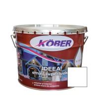 Vopsea alchidica pentru lemn / metal, Kober Ideea, interior / exterior, alba, 10 L