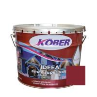 Vopsea alchidica pentru lemn / metal, Kober Ideea, interior / exterior, grena, 10 L