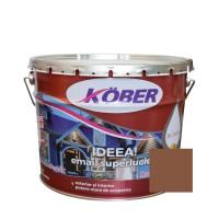 Vopsea alchidica pentru lemn / metal, Kober Ideea, interior / exterior, maro deschis, 10 L