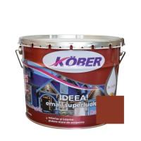 Vopsea alchidica pentru lemn / metal, Kober Ideea, interior / exterior, maro, 10 L