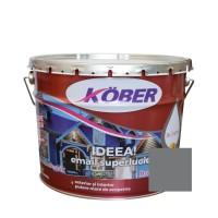 Vopsea alchidica pentru lemn / metal, Kober Ideea, interior / exterior, gri metalic, 10 L