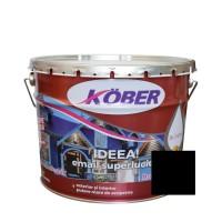 Vopsea alchidica pentru lemn / metal, Kober Ideea, interior / exterior, neagra, 10 L