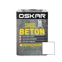 Vopsea acrilica Direct pe beton Oskar, exterior, alba, 0.75 L