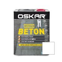 Vopsea acrilica Direct pe beton Oskar, exterior, alb, 2.5 L