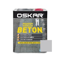 Vopsea acrilica Direct pe beton Oskar, exterior, gri deschis, 2.5 L