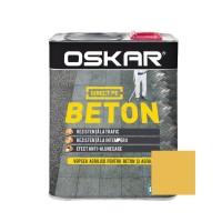 Vopsea acrilica Direct pe beton Oskar, exterior, galben, 2.5 L