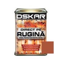 Vopsea alchidica Direct pe rugina Oskar, interior / exterior, cupru metalizat, 0.5 L