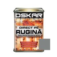 Vopsea alchidica Direct pe rugina Oskar, interior / exterior, argintiu metalizat, 0.5 L