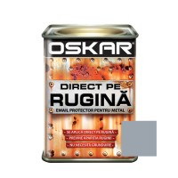 Vopsea alchidica Direct pe rugina Oskar, interior / exterior, gri lucios, 0.5 L