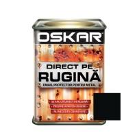 Vopsea alchidica Direct pe rugina Oskar, interior / exterior, negru mat - fier forjar, 0.5 L