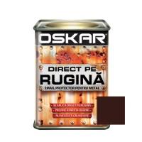 Vopsea alchidica Direct pe rugina Oskar, interior / exterior, maro ciocolatiu lucios, 0.5 L
