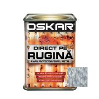 Vopsea alchidica Direct pe rugina Oskar, interior / exterior, argintiu - lovitura de ciocan, 0.5 L