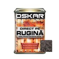 Vopsea alchidica Direct pe rugina Oskar, interior / exterior, negru - lovitura de ciocan, 0.5 L
