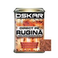 Vopsea alchidica Direct pe rugina Oskar, interior / exterior, maro ciocolatiu - lovitura de ciocan, 0.5 L