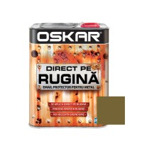 Vopsea alchidica Direct pe rugina Oskar, interior / exterior, auriu metalizat, 2.5 L