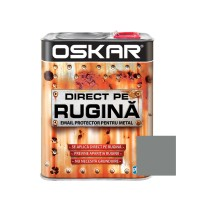 Vopsea alchidica Direct pe rugina Oskar, interior / exterior, argintiu metalizat, 2.5 L
