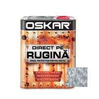 Vopsea alchidica Direct pe rugina Oskar, interior / exterior, argintiu - lovitura de ciocan, 2.5 L