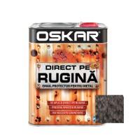 Vopsea alchidica Direct pe rugina Oskar, interior / exterior, negru - lovitura de ciocan, 2.5 L