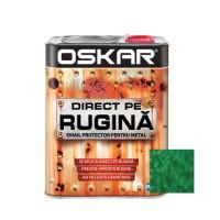 Vopsea alchidica Direct pe rugina Oskar, interior / exterior, verde inchis - lovitura de ciocan, 2.5 L
