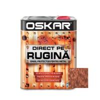 Vopsea alchidica Direct pe rugina Oskar, interior / exterior, maro ciocolatiu - lovitura de ciocan, 2.5 L