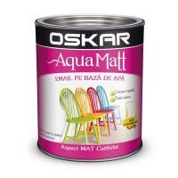 Vopsea pentru lemn / metal, Oskar Aqua Matt, interior / exterior, pe baza de apa, alba, 0.6 L