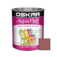 Vopsea pentru lemn / metal, Oskar Aqua Matt, interior / exterior, pe baza de apa, cafenie, 0.6 L