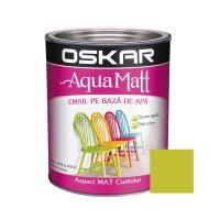 Vopsea pentru lemn / metal, Oskar Aqua Matt, interior / exterior, pe baza de apa, verde, 0.6 L