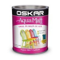 Vopsea pentru lemn / metal, Oskar Aqua Matt, interior / exterior, pe baza de apa, turcoaz, 0.6 L