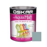 Vopsea pentru lemn / metal, Oskar Aqua Matt, interior / exterior, pe baza de apa, gri creativ, 0.6 L