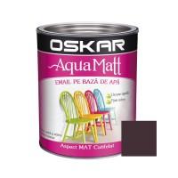 Vopsea pentru lemn / metal, Oskar Aqua Matt, interior / exterior, pe baza de apa, maro, 0.6 L