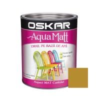 Vopsea pentru lemn / metal, Oskar Aqua Matt, interior / exterior, pe baza de apa, ocru unicat, 0.6 L