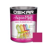Vopsea pentru lemn / metal, Oskar Aqua Matt, interior / exterior, pe baza de apa, fuchsia, 0.6 L