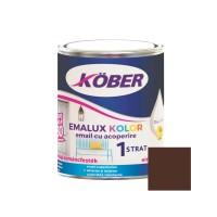 Vopsea alchidica pentru lemn / metal, Kober Emalux Kolor, interior / exterior, maro, 0.75 L