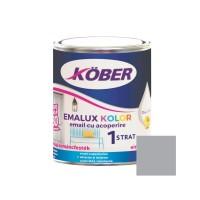 Vopsea alchidica pentru lemn / metal, Kober Emalux Kolor, interior / exterior, gri, 0.75 L