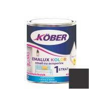 Vopsea alchidica pentru lemn / metal, Kober Emalux Kolor, interior / exterior, neagra, 0.75 L