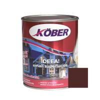Vopsea alchidica pentru lemn / metal, Kober Ideea, interior / exterior, brun, 0.75 L