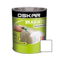 Vopsea pentru radiator Oskar, interior, pe baza de apa, alba, 0.5 L