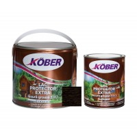 Lac / lazura groasa pentru lemn, Kober Extra 3 in 1, wenge, interior / exterior, 2.5 L + 0.75 L