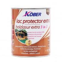 Lac / lazura extra 3 in 1 pentru lemn, Kober Extra, wenge, interior / exterior, 0.75 L