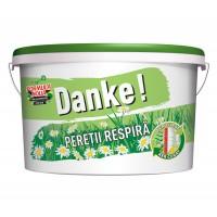 Vopsea lavabila interior, Danke - peretii respira, alba, 2.5 L